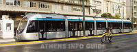 The new Athens tram